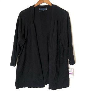 $49 Karen Scott black open cardigan XXL NWT